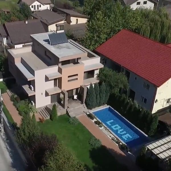 Filmare cu drona – casa de vanzare Popesti Leordeni