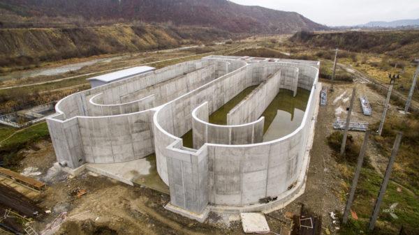 Fotografiere drona constructie statii de epurare